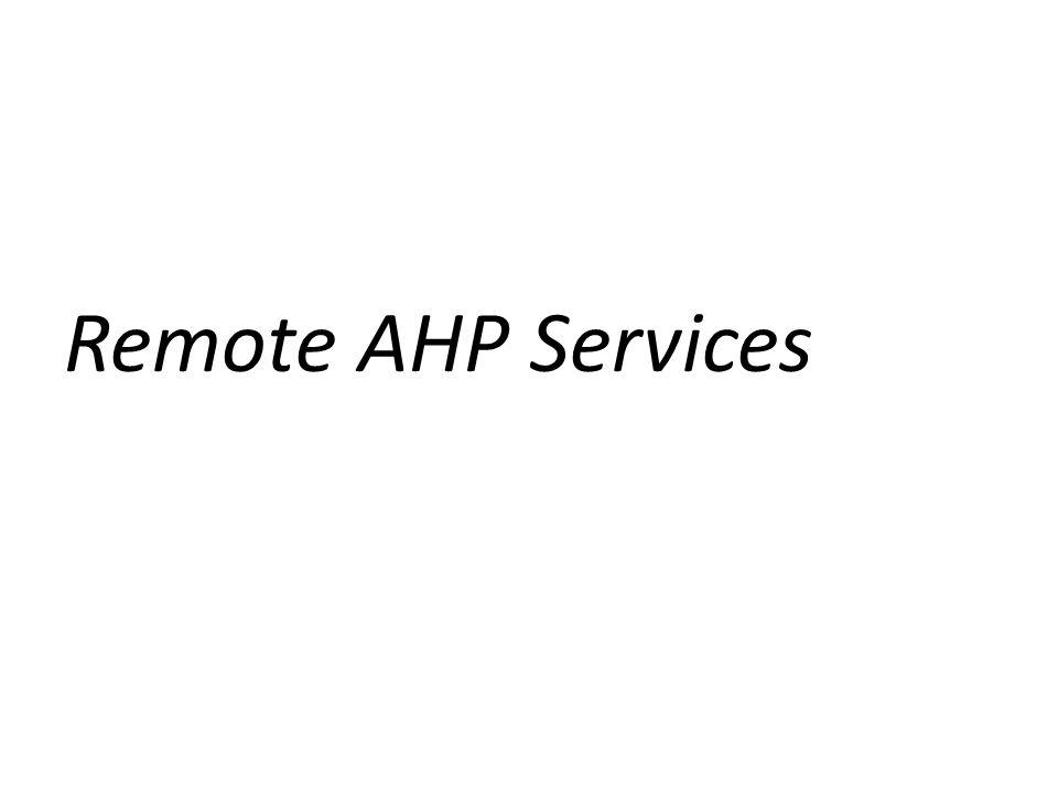 Remote AHP Services
