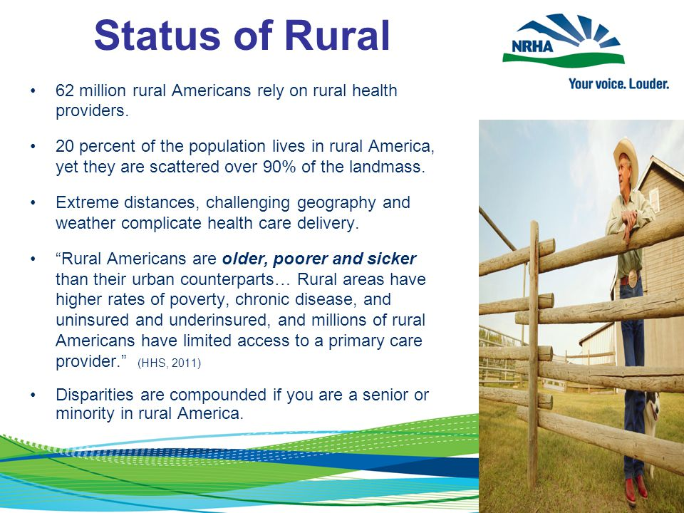62 million rural Americans rely on rural health providers.