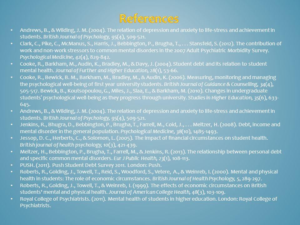 Andrews, B., & Wilding, J. M. (2004).