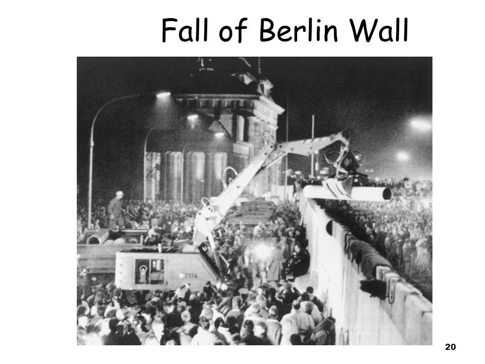 20 Fall of Berlin Wall