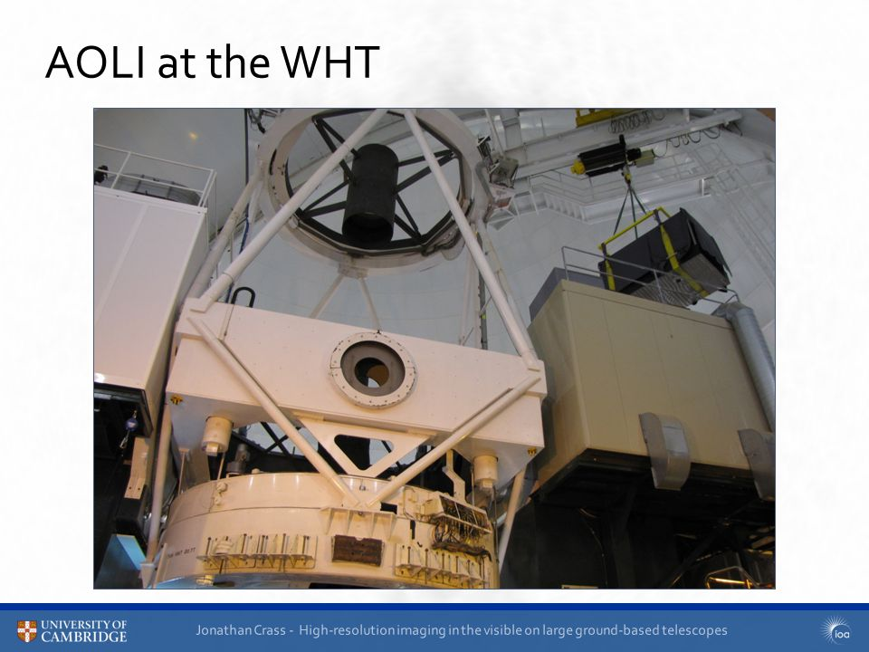 Jonathan Crass - High-resolution imaging in the visible on large ground-based telescopes AOLI at the WHT