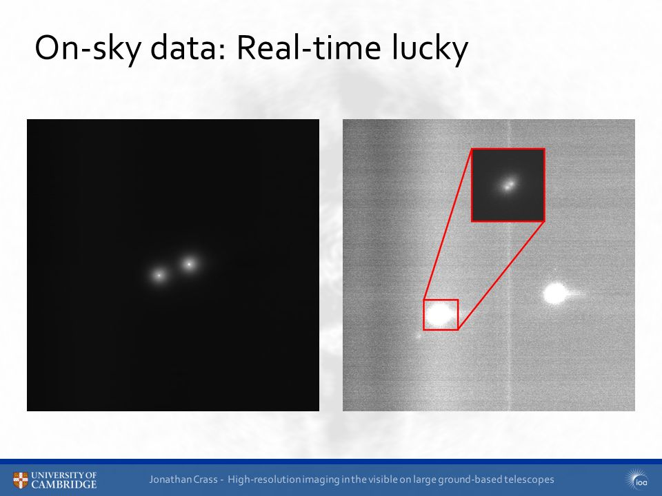 Jonathan Crass - High-resolution imaging in the visible on large ground-based telescopes On-sky data: Real-time lucky