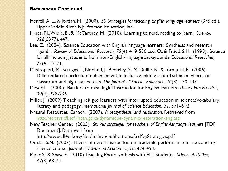 References Continued Herrell, A. L., & Jordan, M.