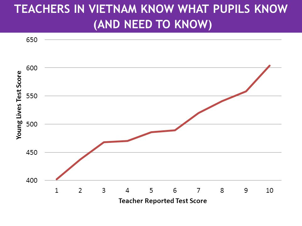 TEACHERS IN VIETNAM KNOW WHAT PUPILS KNOW (AND NEED TO KNOW)
