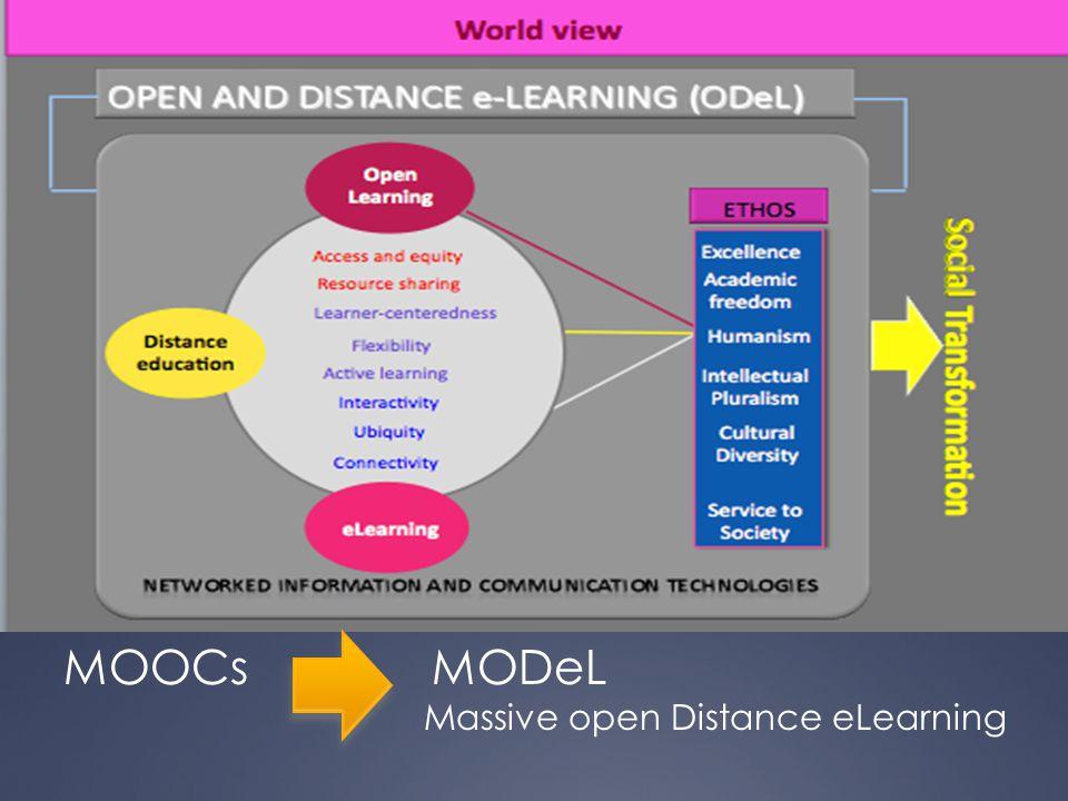 MOOCs MODeL Massive open Distance eLearning