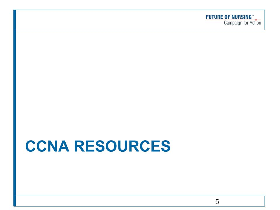 CCNA RESOURCES 5