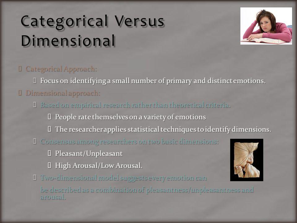 Categorical Versus Dimensional