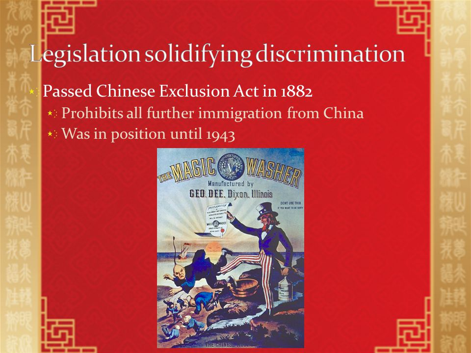 Exclusionists tries to strip Chinese-Americas of their citizenships Overruled by Supreme Court in U.S.