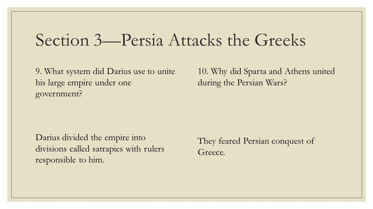 Section 4—The Age of Pericles 11.How was democracy expanded during the Age of Pericles.