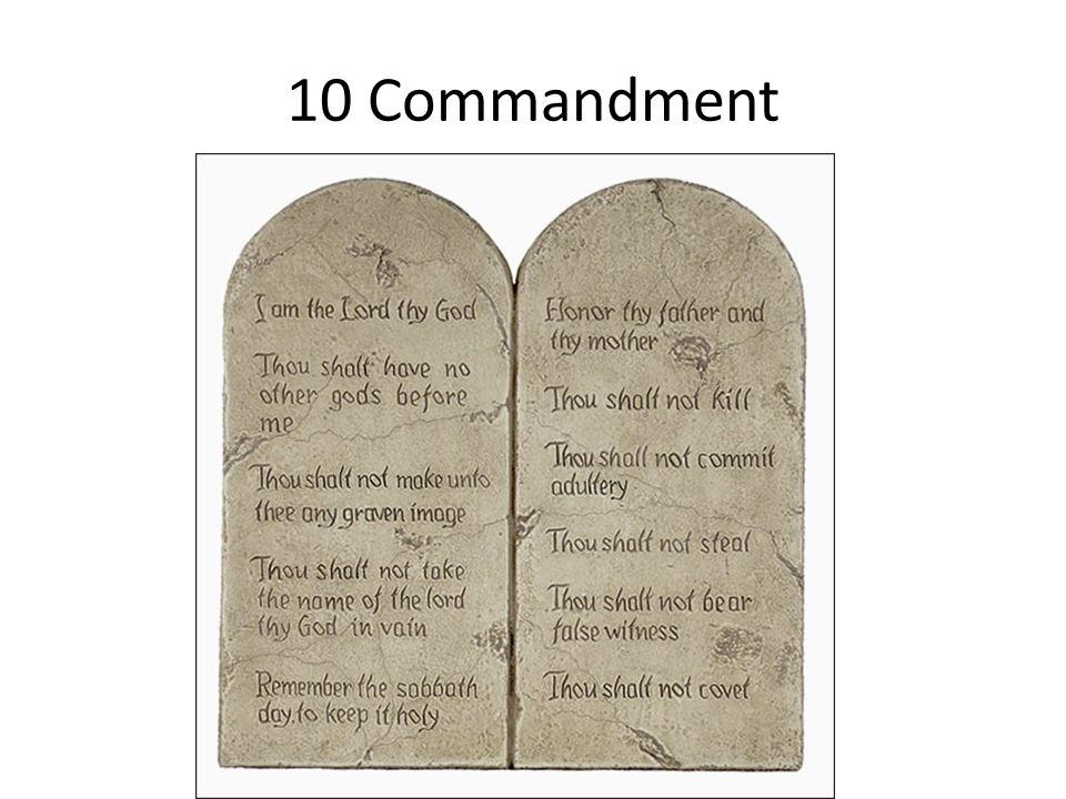 10 Commandment