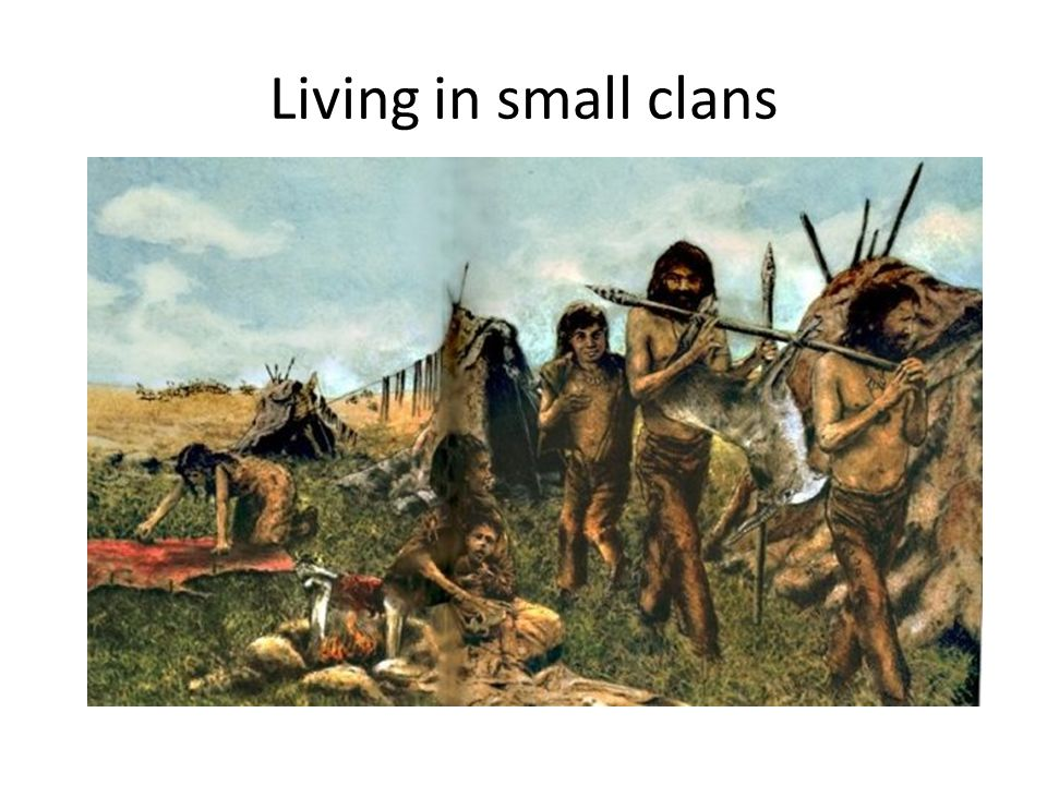 Living in small clans