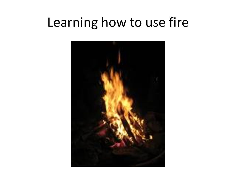 Learning how to use fire