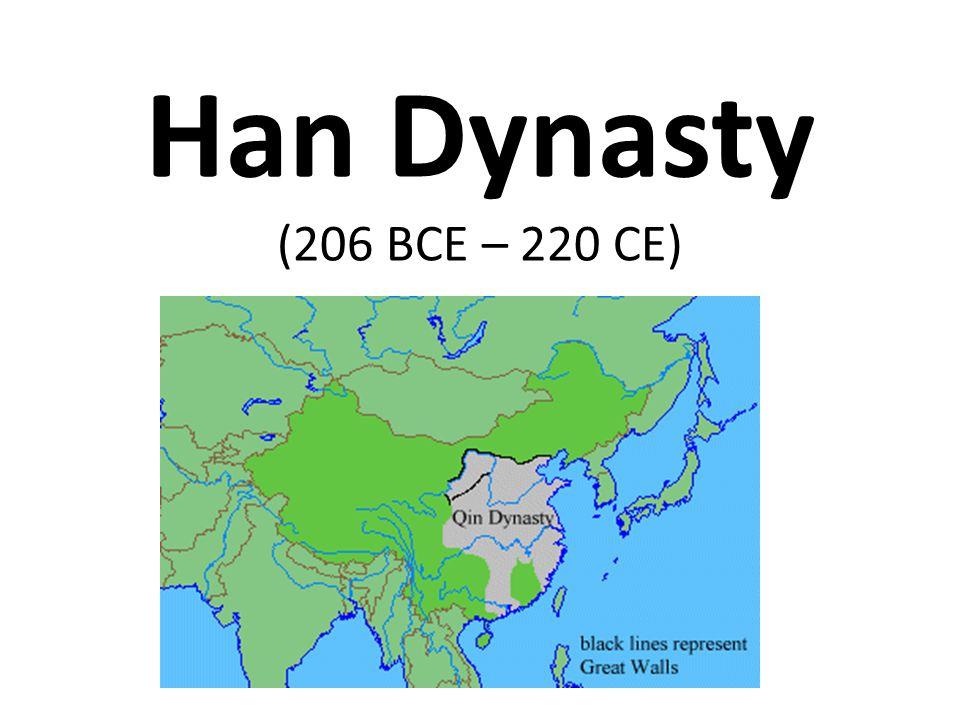 Han Dynasty (206 BCE – 220 CE)