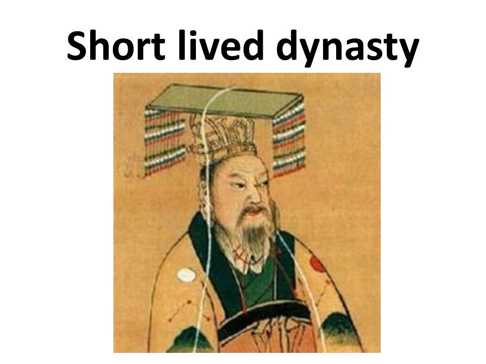 Short lived dynasty