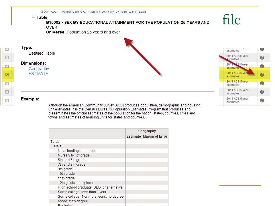 Use AFF web site plus metadata file