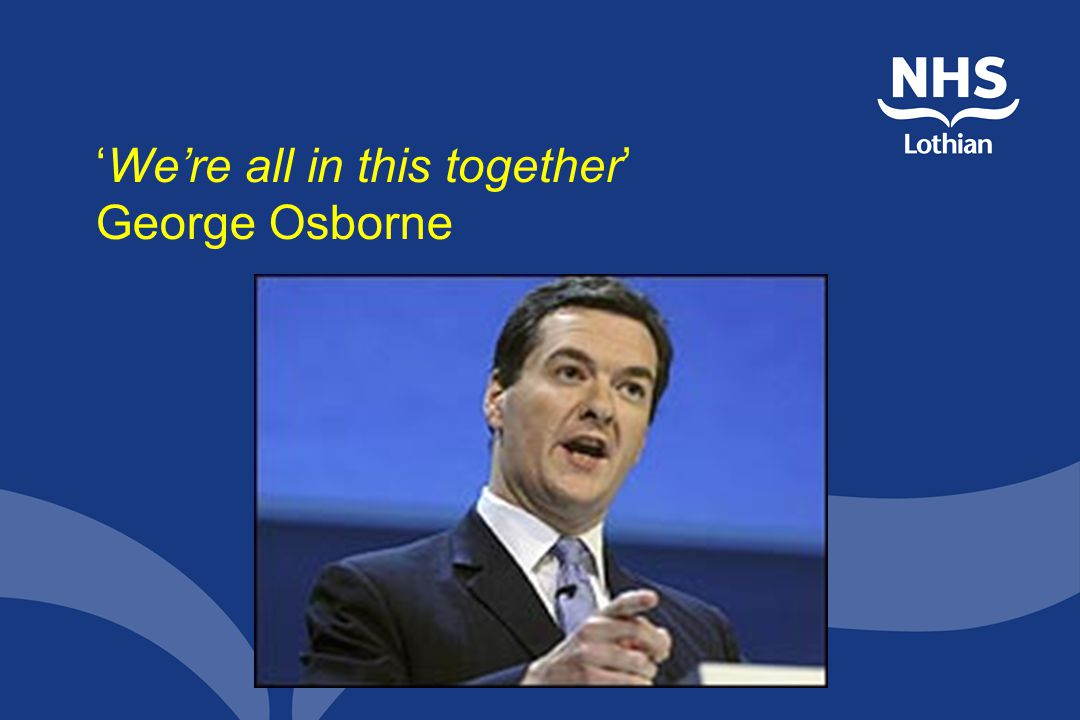 'We're all in this together' George Osborne