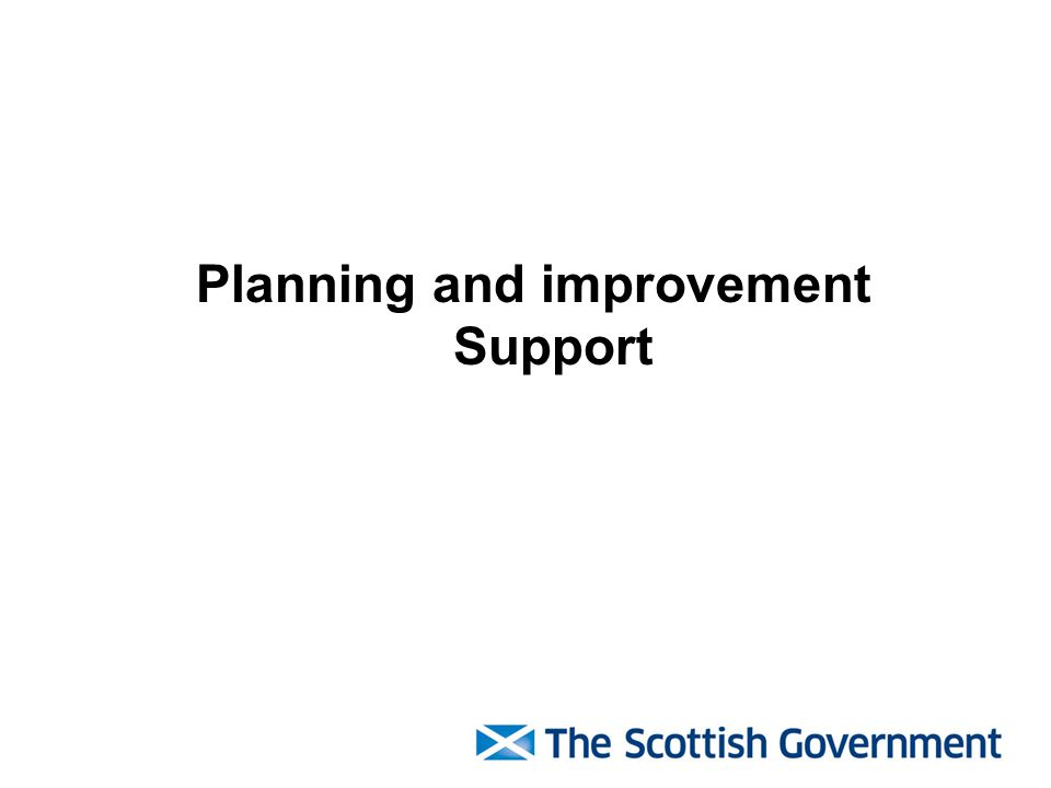 Planning and improvement Support