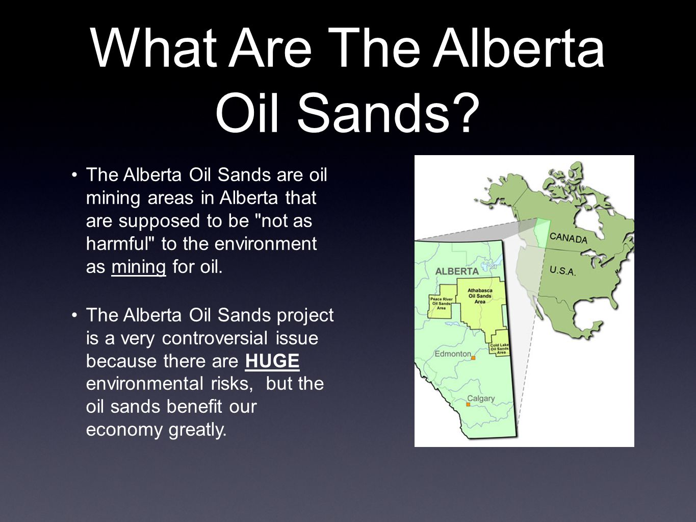 What Are The Alberta Oil Sands.