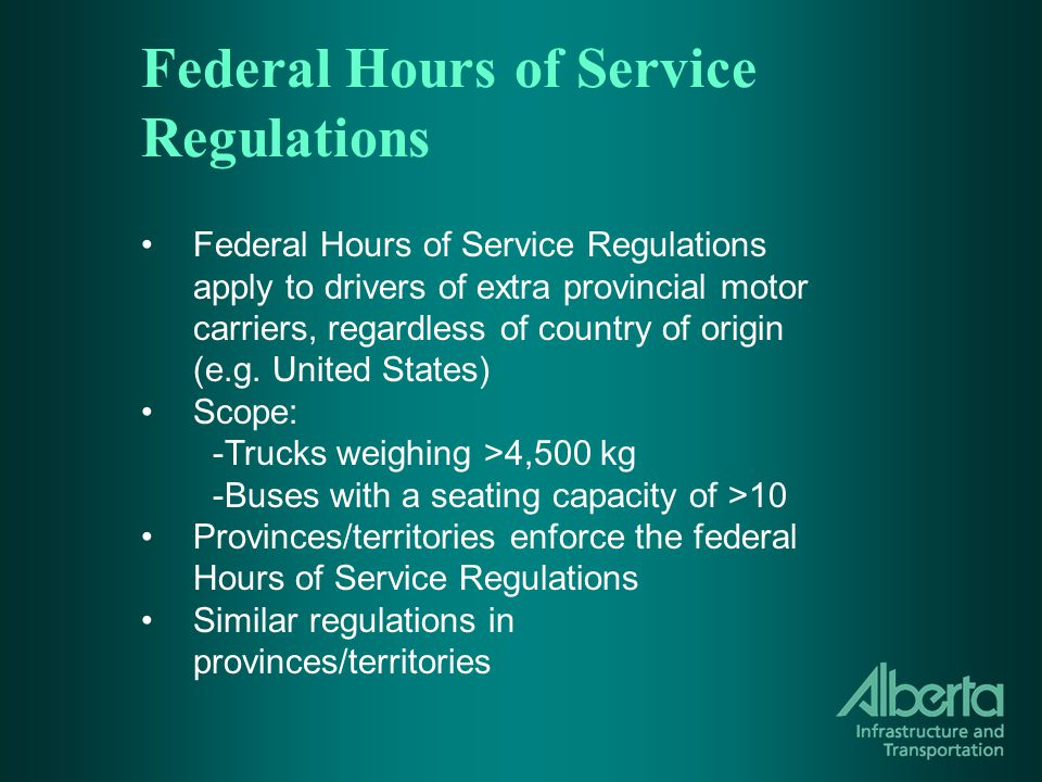 Complying With Daily Rules 10 hours of off-duty time : 2 + 0.75 + 1 + 6 = 9.75 Violation: Less than 2 hours (1.75) of off-duty time that does not form part of the required period of 8 consecutive hours of off-duty time.