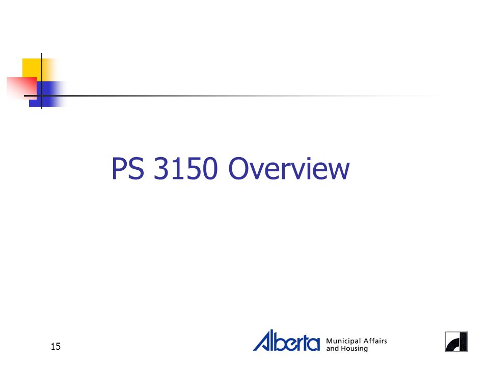 15 PS 3150 Overview