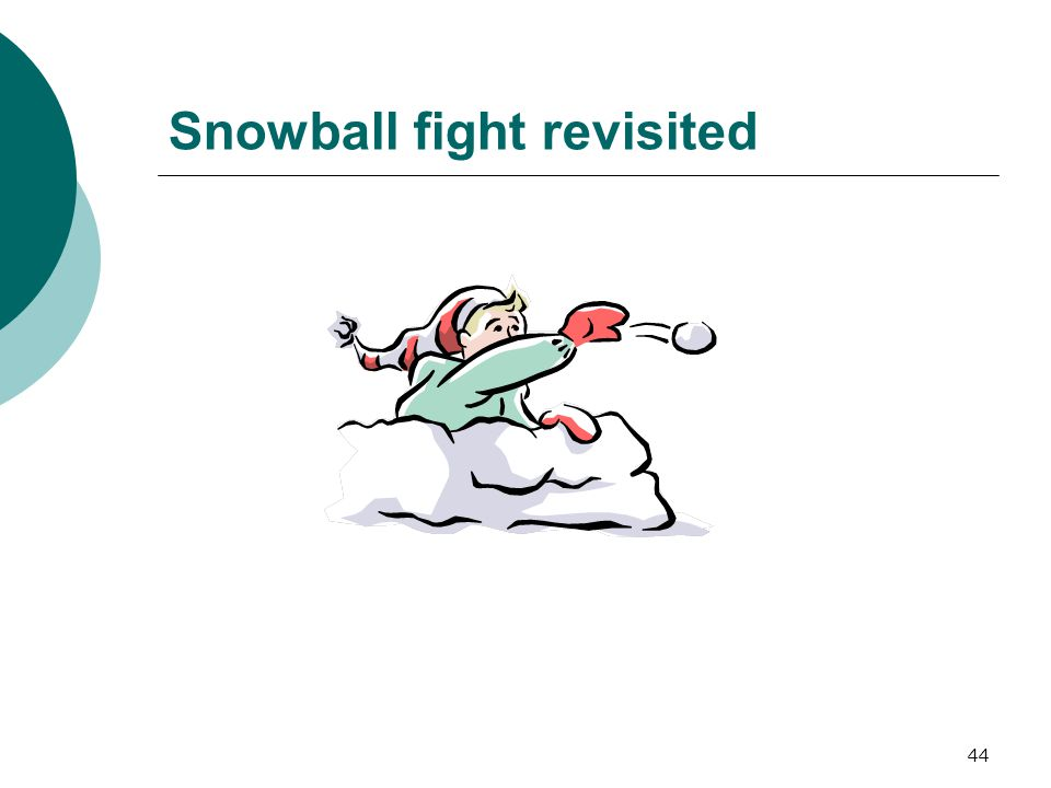 44 Snowball fight revisited