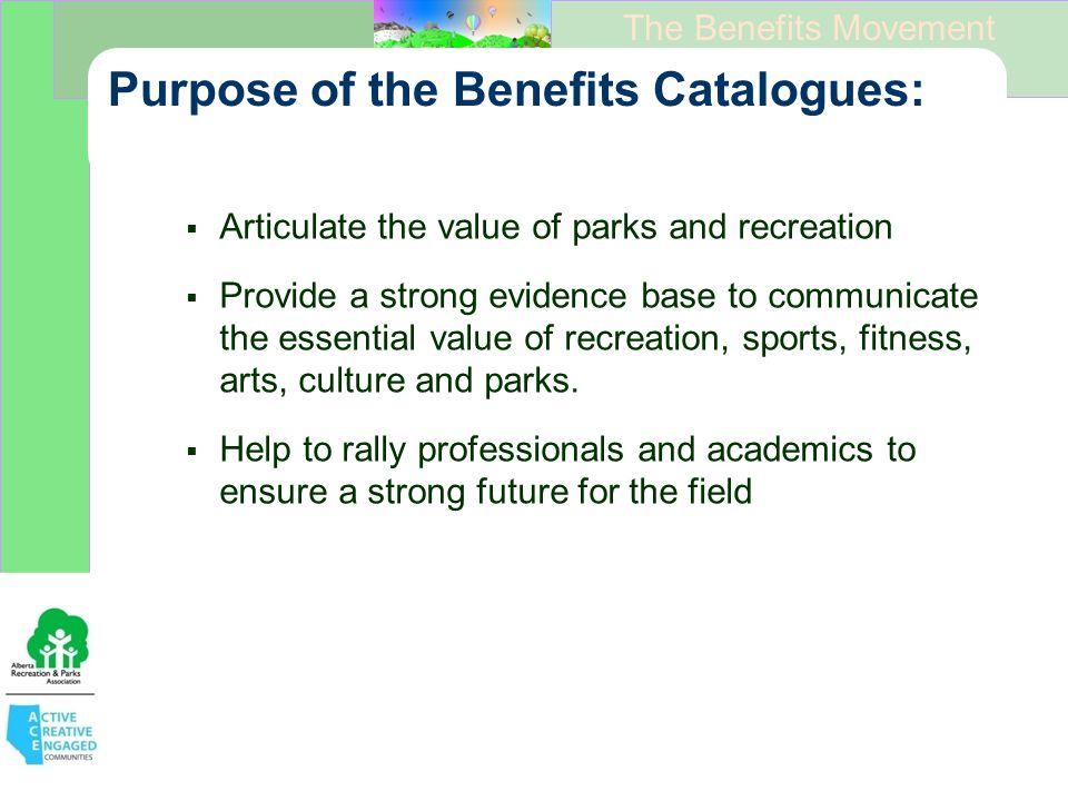 The Benefits Movement Principles of the Benefits Hub ….