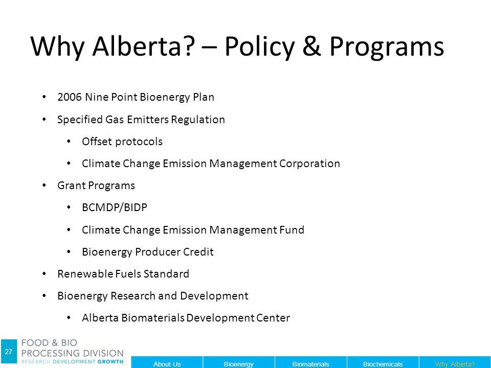 Why Alberta.