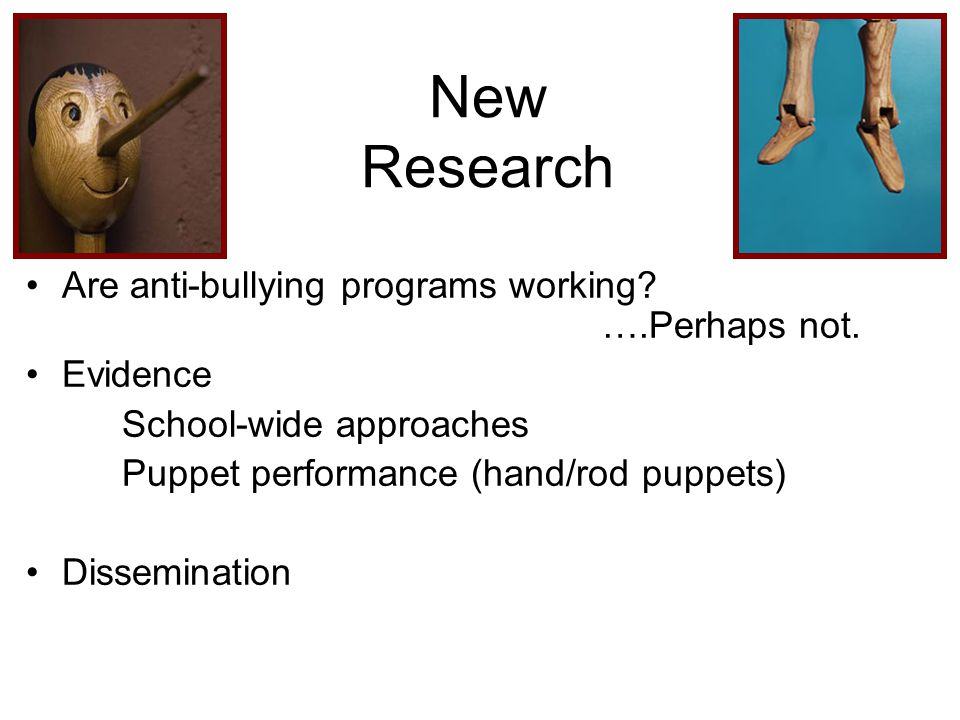 New Research Are anti-bullying programs working. ….Perhaps not.