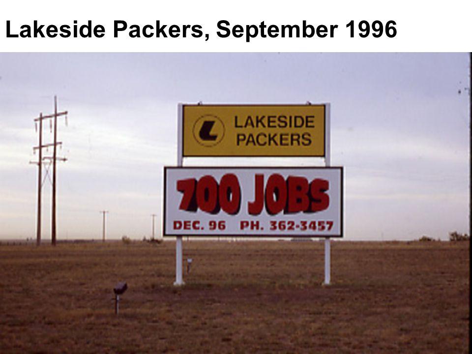 Lakeside Packers, September 1996