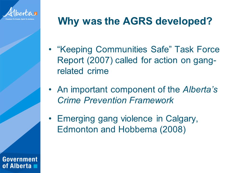 Why was the AGRS developed.