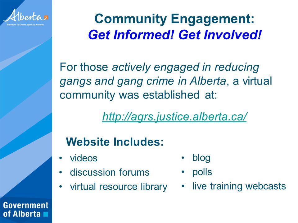 Community Engagement: Get Informed. Get Involved.