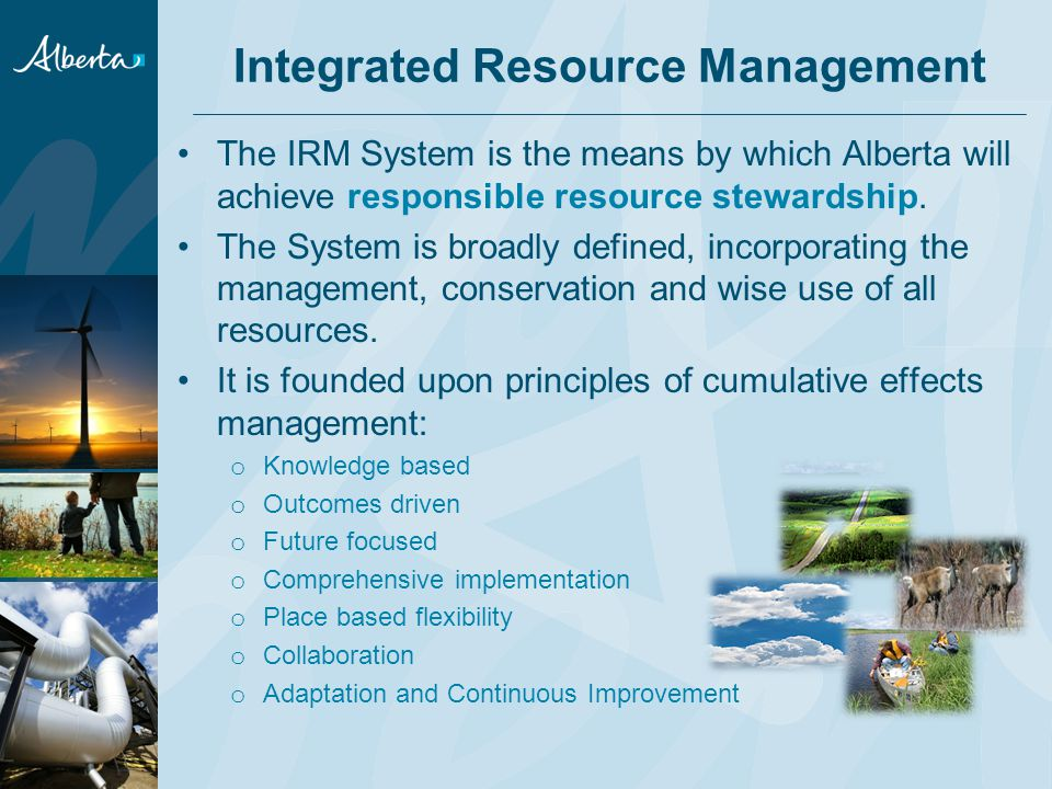 IRMS Acknowledges the Need for… Strong relationships with partners and stakeholders: Government will build and maintain strong relationships with key partners and stakeholders to enable the successful implementation of the IRMS.