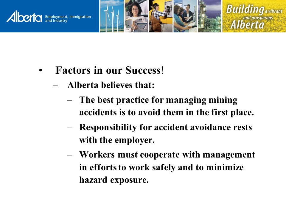 Factors in our Success.
