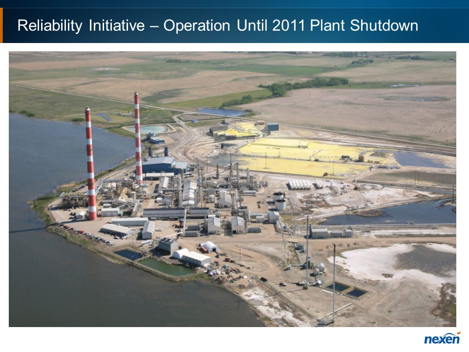 Reliability Initiative – Operation Until 2011 Plant Shutdown