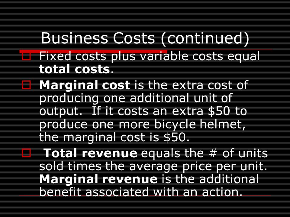 Cost-benefit analysis  is an economic model used to compare marginal costs & marginal benefits of a decision.