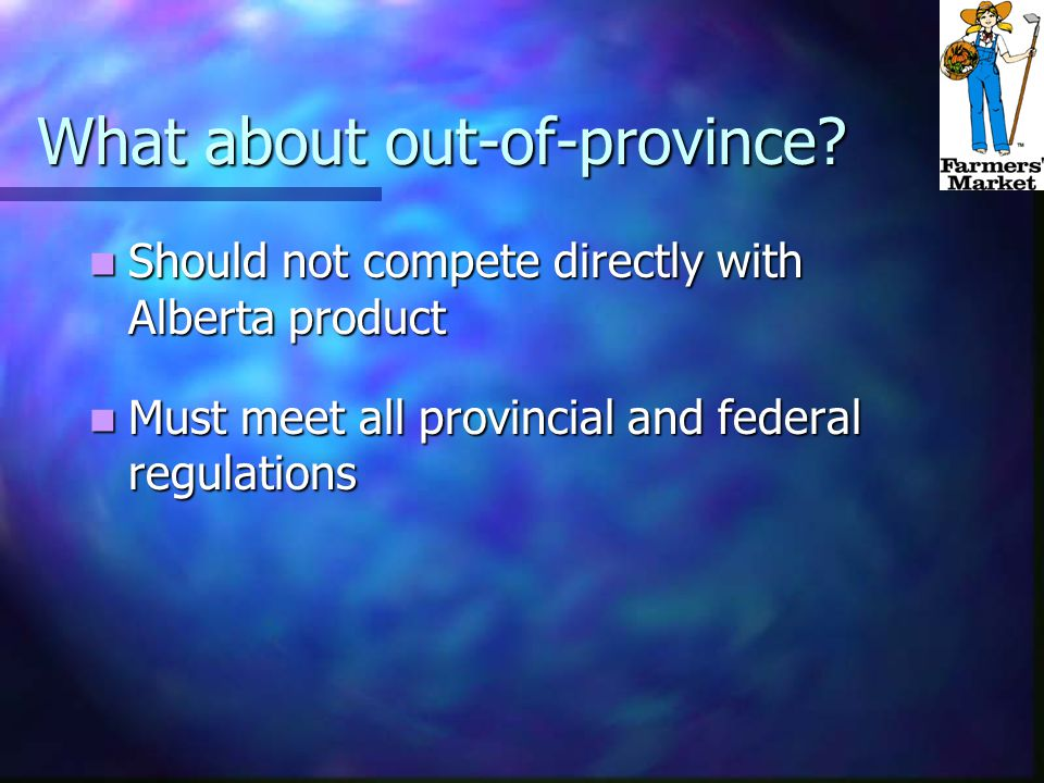 What about out-of-province.