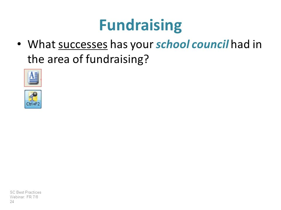 What successes has your school council had in the area of fundraising.