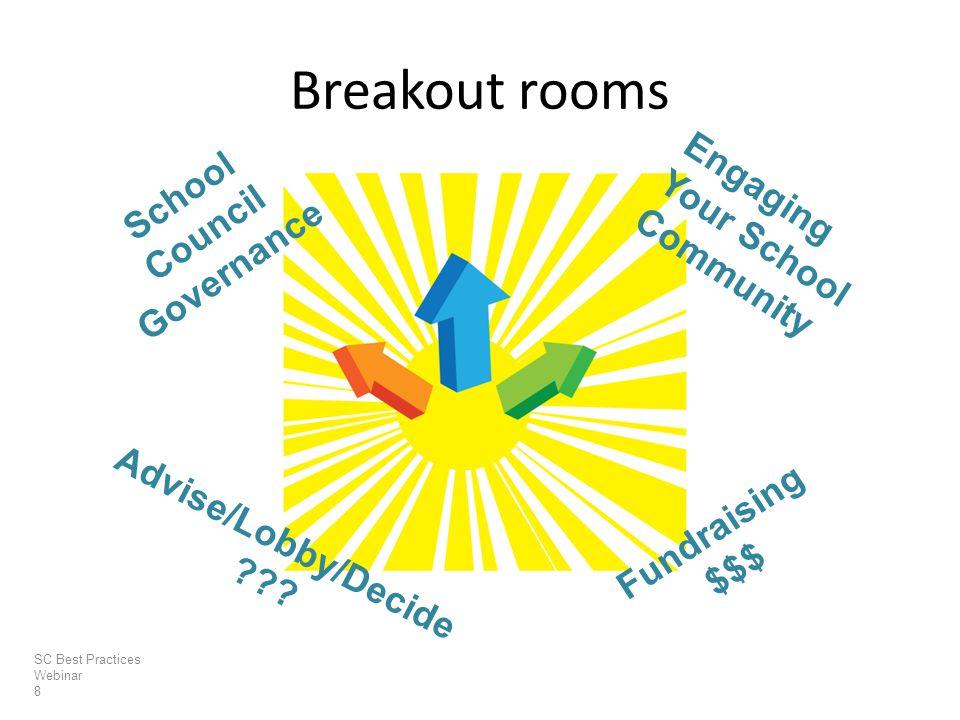 Breakout rooms SC Best Practices Webinar 8 Advise/Lobby/Decide .