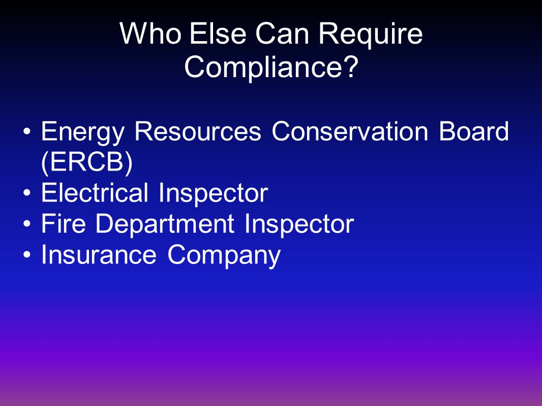 Who Else Can Require Compliance.