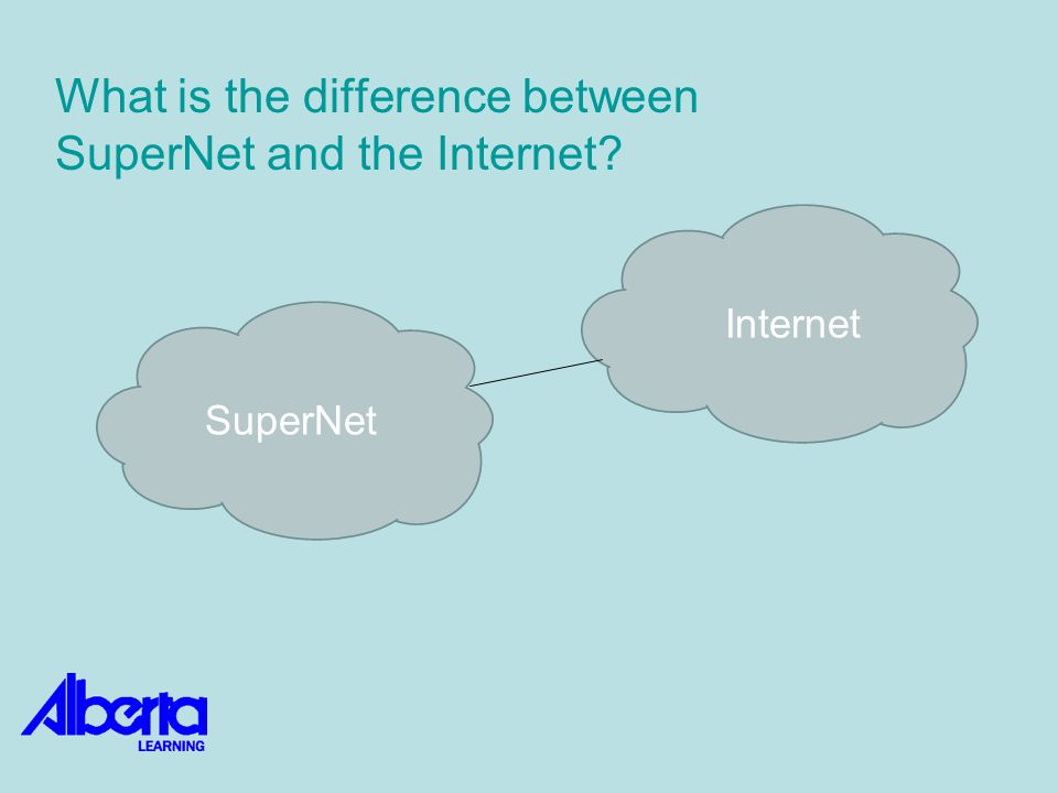SuperNet Internet What is the difference between SuperNet and the Internet?