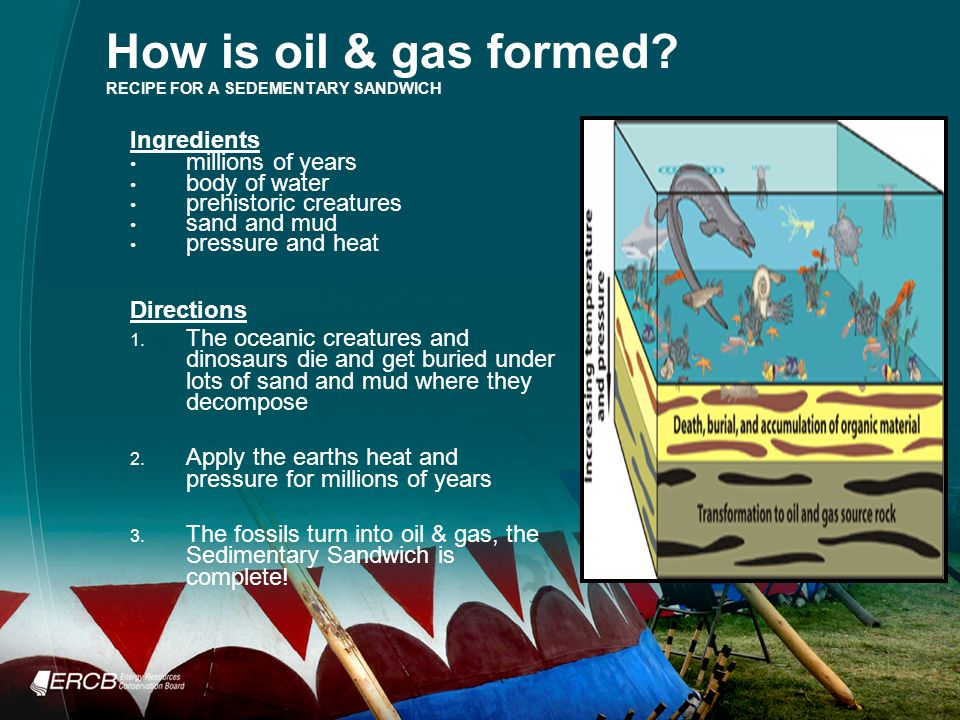 How is oil & gas formed.