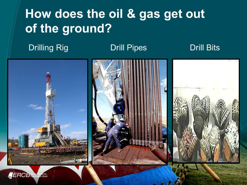 How does the oil & gas get out of the ground Drilling RigDrill PipesDrill Bits