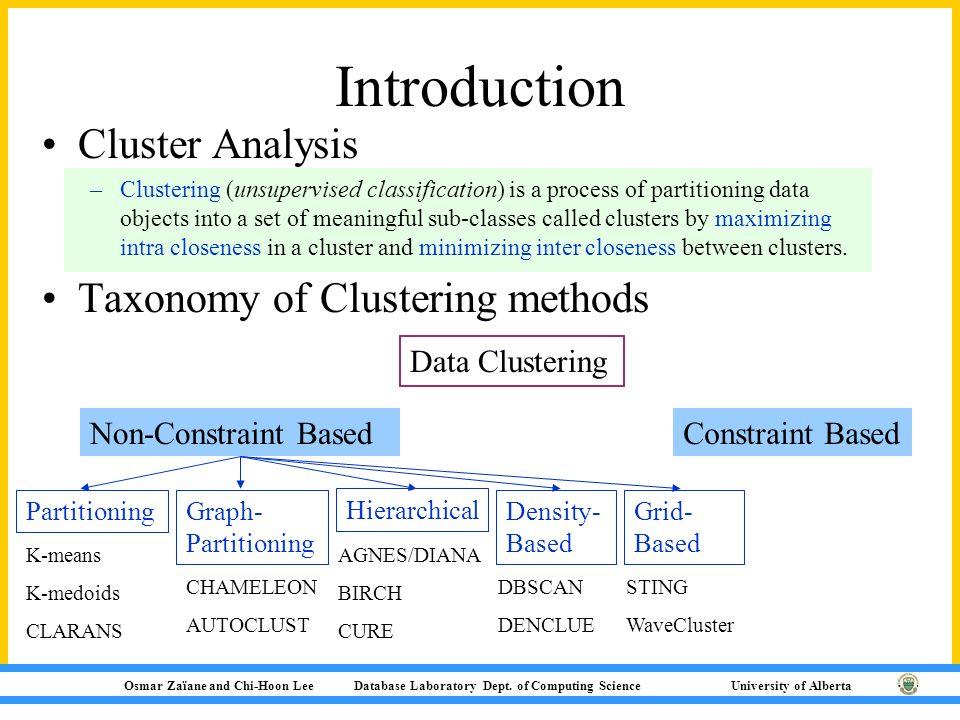 Osmar Zaïane and Chi-Hoon Lee Database Laboratory Dept.