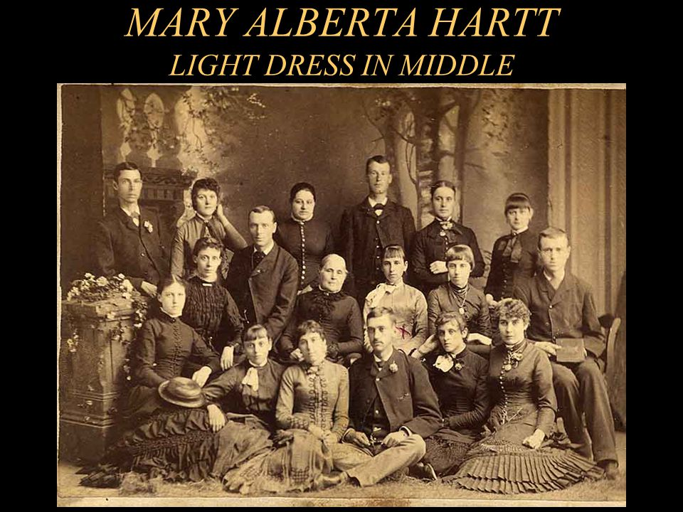 MARY ALBERTA HARTT LIGHT DRESS IN MIDDLE