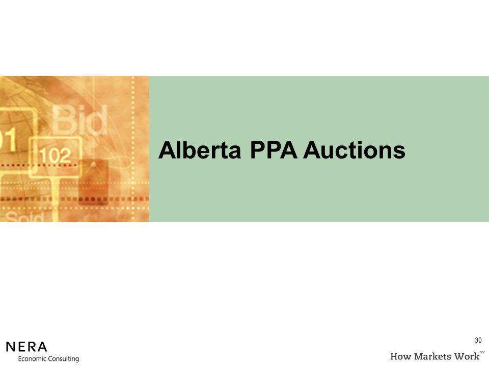 Alberta PPA Auctions 30