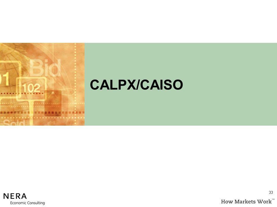 CALPX/CAISO 33