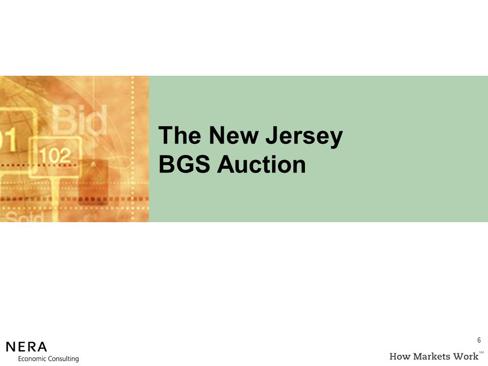 The New Jersey BGS Auction 6