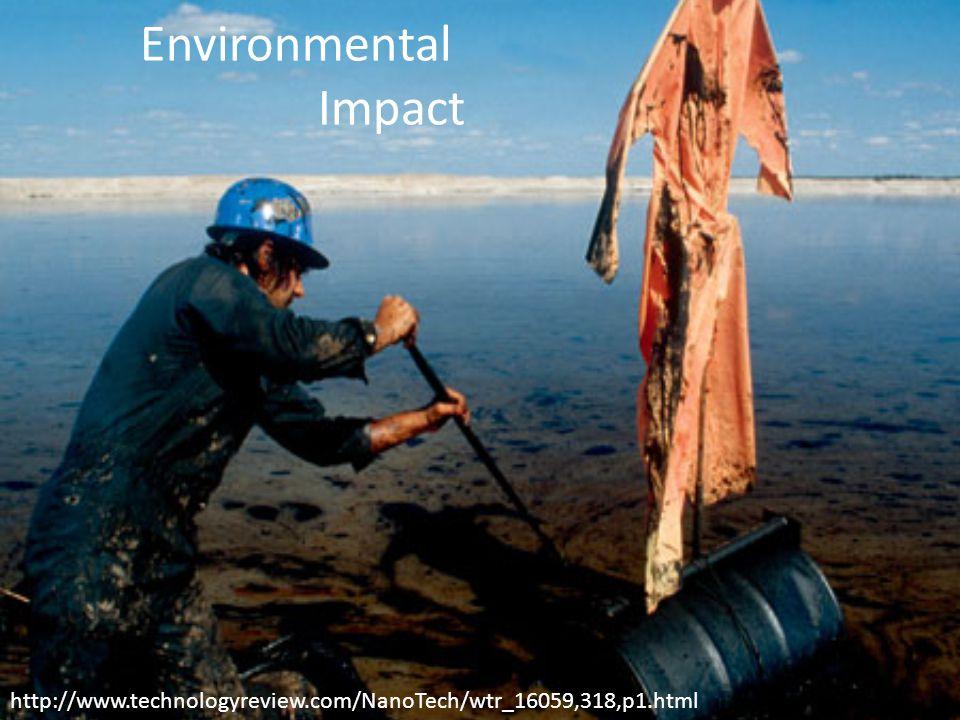Environmental Impact http://www.technologyreview.com/NanoTech/wtr_16059,318,p1.html
