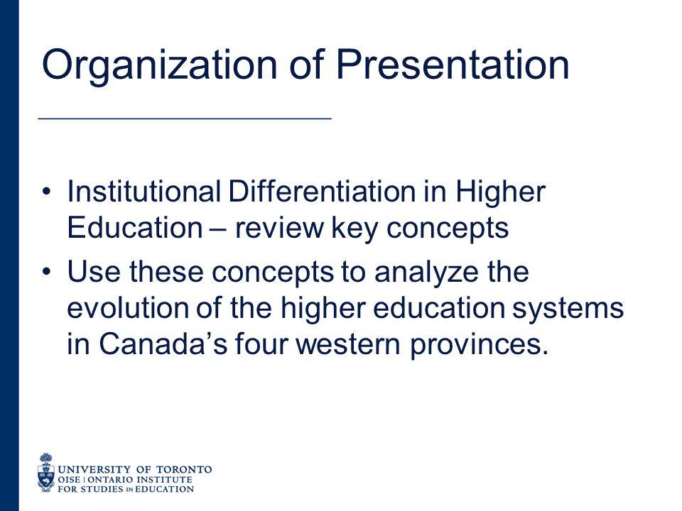 Differentiation and Regional Development.