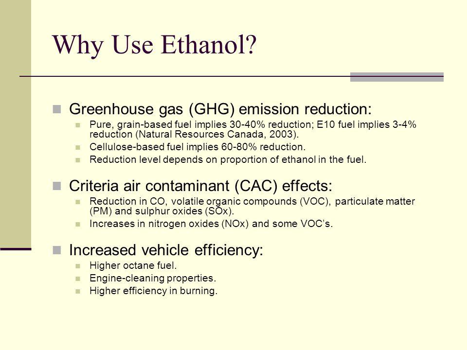 Why Use Ethanol.